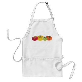 avental colorido do cozinhar da cozinha dos tomate
