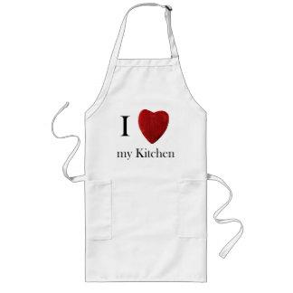 Avental comprido de cozinha j love my kitchen