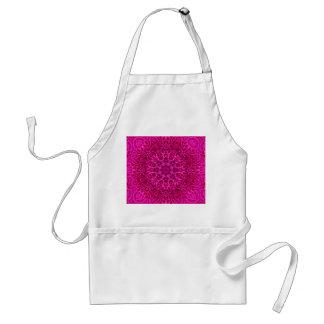 Avental cor-de-rosa do padrão do teste padrão de