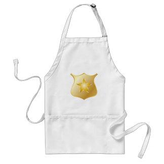 Avental Crachá da polícia do ouro