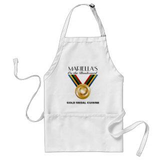 Avental CULINÁRIA da medalha de ouro/avental da