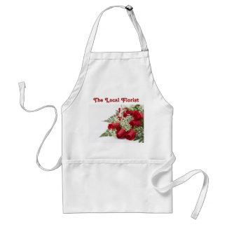 Avental das rosas vermelhas