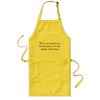 Avental desarrumado da cozinha do cozinheiro chefe