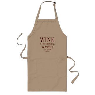 Avental do cozinhar do amante de vinho