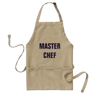 Avental do cozinheiro chefe mestre