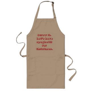 Avental dos espaguetes do Natal