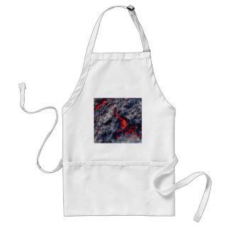 Avental fissura do magma