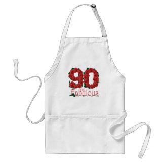 Avental flor do aniversário do 90