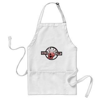 Avental Hora de cozinhar - vermelho/preto/branco