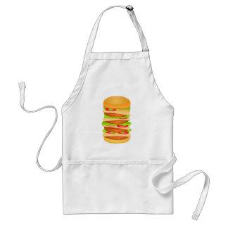 Avental Impressão grande da ilustração do hamburguer no