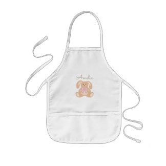 Avental Infantil Coelho de coelho adorável doce feminino bonito do