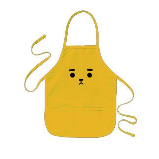 Avental Infantil Urso simples bonito do bebê