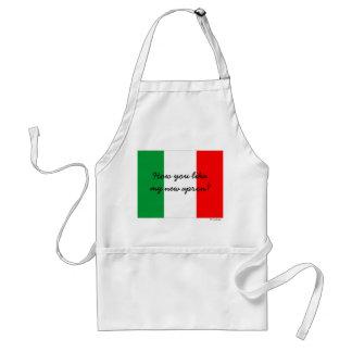 Avental italiano engraçado do cozinheiro chefe do