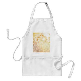 Avental Mandala - escova dourada