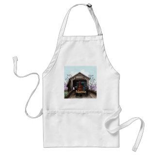 Avental Minha ponte coberta de Amish