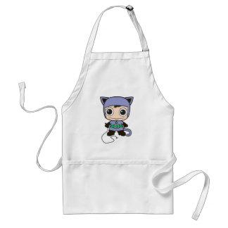 Avental Mini mulher do gato