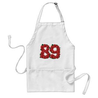 Avental Número flor de 89 ou 89th aniversários