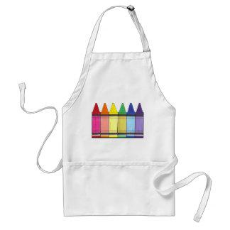 Avental Orgulho colorido do professor da fonte da arte dos