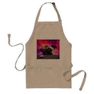 Avental pug do espaço - comida do pug - biscoito do pug