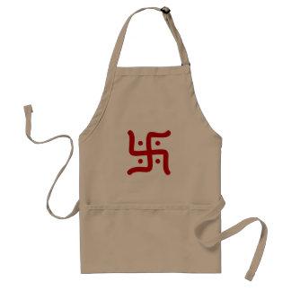 Avental religião hindu tradicional indiana do símbolo da