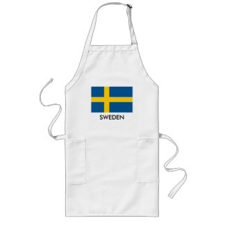 Avental sueco do cozinhar da cozinha da bandeira