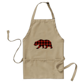 Avental Urso do Tartan