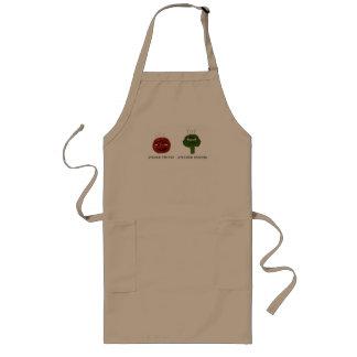 Avental vegetal engraçado do humor de Punny da cha