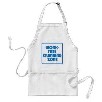 Avental Zona de escalada livre do trabalho
