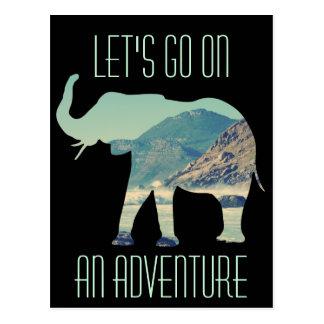 Aventura do elefante cartão postal