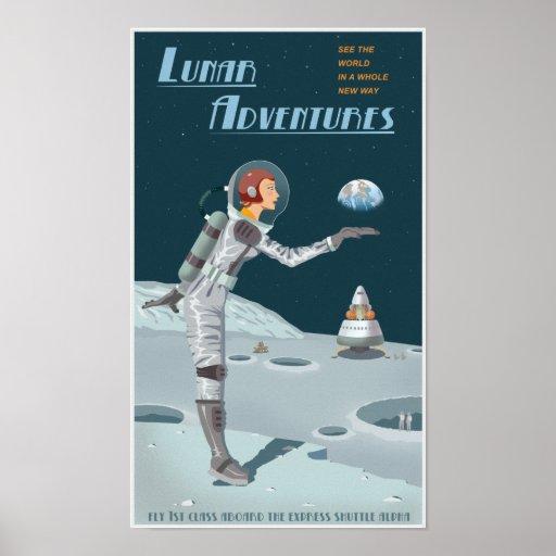 Aventuras lunares poster