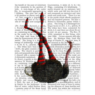 Avestruz com caneleiras listradas cartão postal