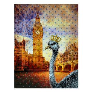 Avestruz real em Londres Cartão Postal