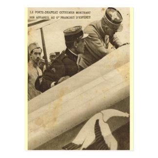 Aviador francês e seu plano cartão postal