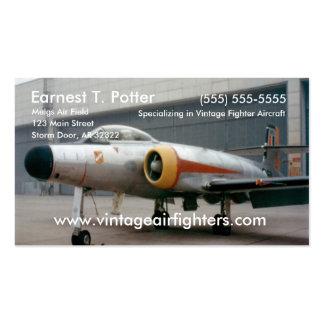 Avião de combate do vintage cartão de visita