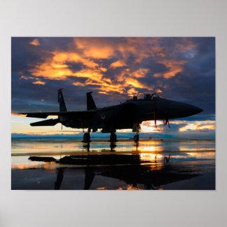 Avião do avião de combate em presentes das forças poster