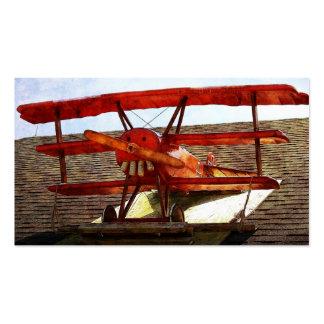 Avião do vintage por Shirley Taylor Cartão De Visita