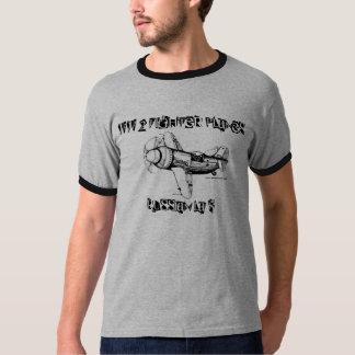 Aviões de combate de WW 2, t-shirt do russo LA-5