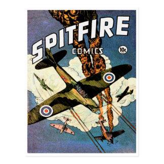 Aviões de lutador da cabeça-quente - segunda cartão postal