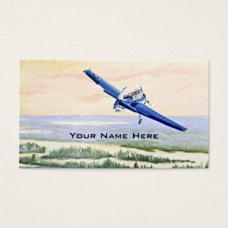 Aviões do vintage cartão de visitas