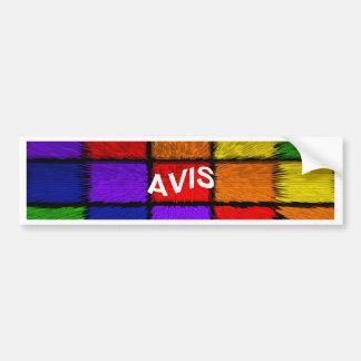 AVIS (nomes fêmeas) Adesivo Para Carro