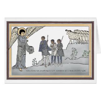 Aviso aos cartões de Natal dos pastores