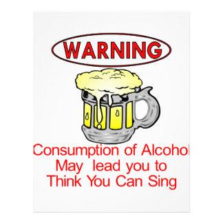 Aviso Consumo de álcool Panfletos Personalizados