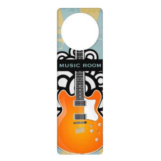Aviso De Porta Gancho de porta do design da música da guitarra