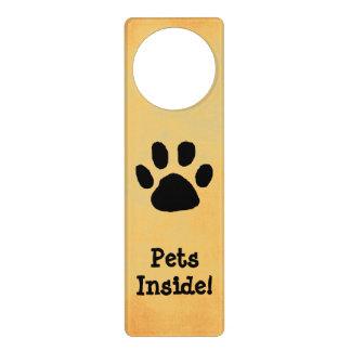 Aviso De Porta Sinal de advertência da porta do animal de