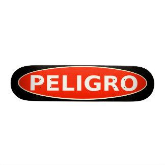 Aviso do skate de Peligro