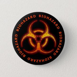 Aviso do zombi do Biohazard Bóton Redondo 5.08cm