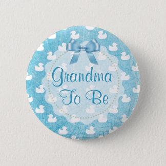 Avó a ser botão de borracha azul dos patinhos bóton redondo 5.08cm