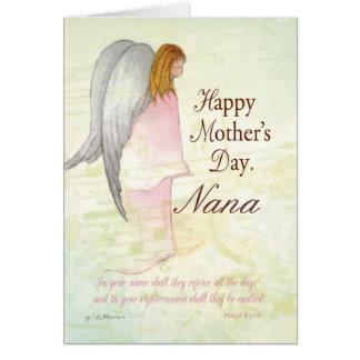 Avó, anjo personalizado do dia das mães cartão comemorativo