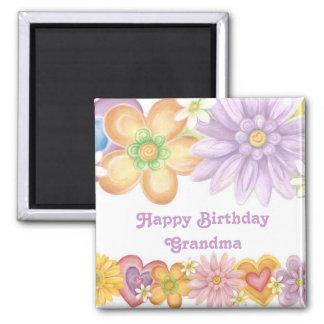 Avó do feliz aniversario ímã quadrado