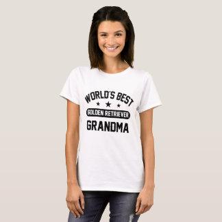 Avó do golden retriever do mundo a melhor camiseta